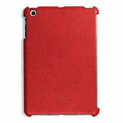 COACH F65416 Bleecker Leather Molded Ipad Mini Case TOMATO