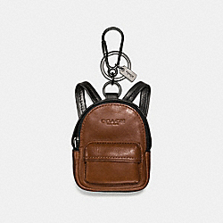 COACH F65425 - BACKPACK CHARM BLACK/DARK SADDLE