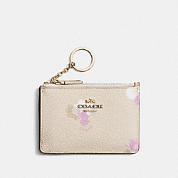 COACH F65439 - MINI SKINNY ID CASE WITH FLORAL PRINT LI/BEECHWOOD MULTI