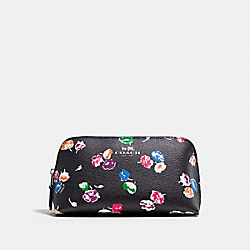 COACH F65441 Cosmetic Case 17 In Wildflower Print Coated Canvas SILVER/RAINBOW MULTI