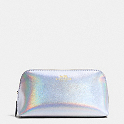 COSMETIC CASE 17 IN HOLOGRAM LEATHER - f65515 - IMITATION GOLD/SILVER HOLOGRAM