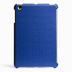 COACH F65536 Heritage Signature Mini Ipad Case BLUE