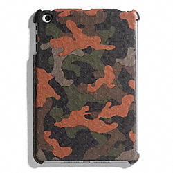 COACH F65536 Heritage Signature Mini Ipad Case FATIGUE/ORANGE CAMO