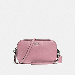 CROSSBODY CLUTCH - f65547 - DUSTY ROSE/DARK GUNMETAL
