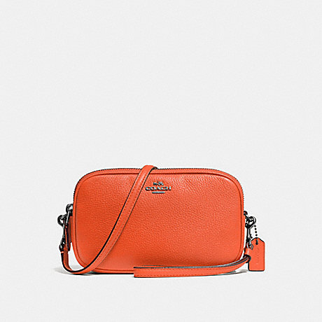 COACH F65547 CROSSBODY CLUTCH MANDARIN/DARK GUNMETAL