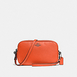 CROSSBODY CLUTCH - F65547 - MANDARIN/DARK GUNMETAL