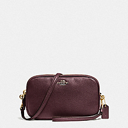 COACH F65547 Sadie Crossbody Clutch LI/OXBLOOD