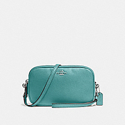 COACH F65547 Crossbody Clutch SILVER/MARINE