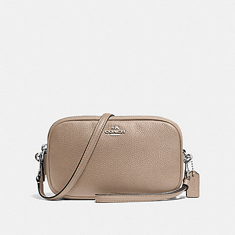 COACH F65547 SADIE CROSSBODY CLUTCH SV/STONE