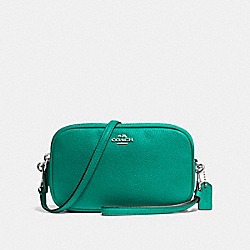 COACH F65547 Sadie Crossbody Clutch SV/TEAL