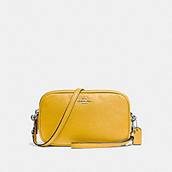CROSSBODY CLUTCH - f65547 - SILVER/YELLOW