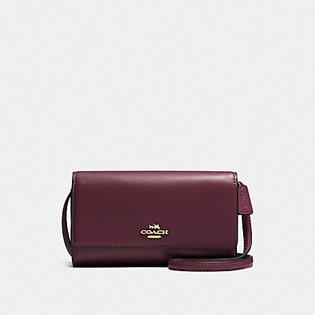COACH F65558 PHONE CROSSBODY LI/OXBLOOD