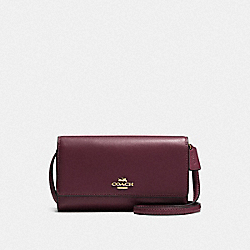 COACH F65558 - PHONE CROSSBODY LI/OXBLOOD