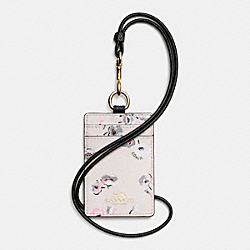 COACH F65573 Lanyard Id In Wildflower Print Coated Canvas IMITATION GOLD/CHALK MULTI
