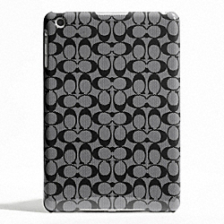 COACH F65641 Signature Molded Mini Ipad Case BLACK WHITE/BLACK