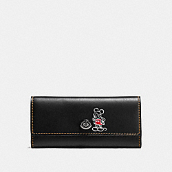 COACH F65793 - MICKEY TURNLOCK WALLET IN SMOOTH LEATHER DARK GUNMETAL/BLACK