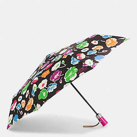 COACH f65810 EXPLODED WILDFLOWER PRINT UMBRELLA SILVER/RAINBOW MULTI
