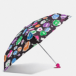 COACH F65811 Exploded Wildflower Print Mini Umbrella SILVER/RAINBOW MULTI
