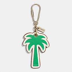 COACH F65859 Palm Tree Bag Charm GOLD/KELLY