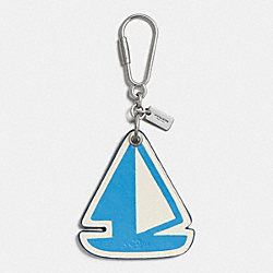 COACH F65870 Sailboat Bag Charm SILVER/AZURE