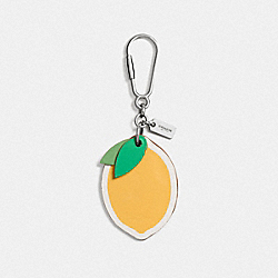 COACH F65874 Lemon Bag Charm SILVER/CANARY