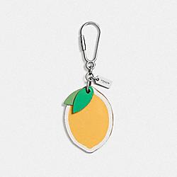 COACH F65874 Lemon Bag Charm SILVER/CANARY