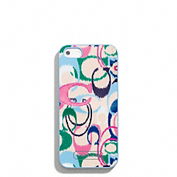 COACH SIGNATURE STRIPE IKAT PRINT IPHONE 5 CASE - ONE COLOR - F65898
