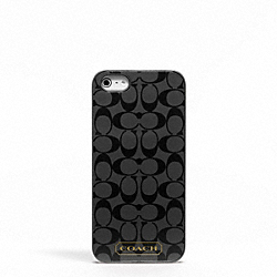 COACH EMBOSSED LIQUID GLOSS IPHONE 5 CASE - SILVER/BLACK - F65899