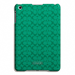 COACH EMBOSSED LIQUID GLOSS MOLDED MINI IPAD CASE - SILVER/BRIGHT JADE - F65946