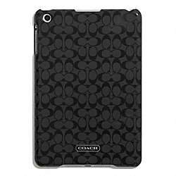 COACH EMBOSSED LIQUID GLOSS MOLDED MINI IPAD CASE - SILVER/BLACK - F65946