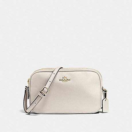 COACH f65988 CROSSBODY POUCH IN PEBBLE LEATHER IMITATION GOLD/CHALK