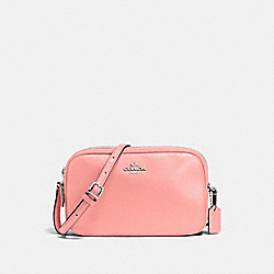 CROSSBODY POUCH - F65988 - BLUSH/SILVER