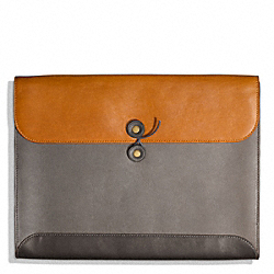 COACH F65998 Bleecker Colorblock Portfolio\ SHARKSKIN/NATURAL