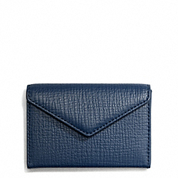 COACH F65999 - CROSBY BOX GRAIN LEATHER ENVELOPE BUSINESS CARD CASE ROYAL
