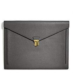 COACH F66000 Crosby Box Grain Leather Portfolio