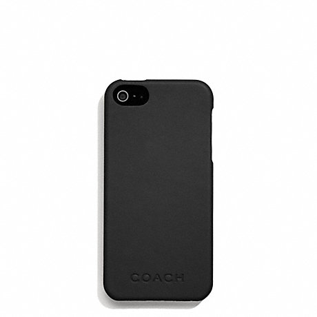 COACH f66017 CAMDEN LEATHER MOLDED IPHONE 5 CASE BLACK