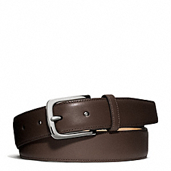 COACH F66100 - HERITAGE SMOOTH LEATHER DRESS BELT SILVER/MAHOGANY