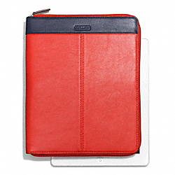 COACH F66160 Park Colorblock Zip Ipad Case