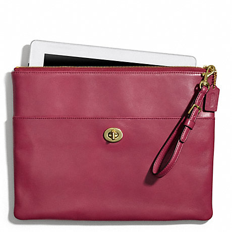 COACH f66203 LEATHER IPAD CLUTCH