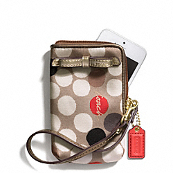 COACH F66248 Poppy Watercolor Dot Print North/south Universal Case