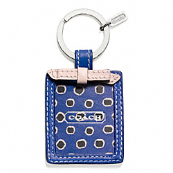 COACH F66317 - FLORAL SCARF PRINT PICTURE FRAME KEY RING ONE-COLOR