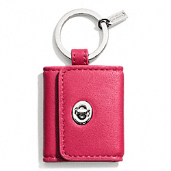 COACH F66329 - PICTURE FRAME KEY RING  SILVER/PINK SCARLET