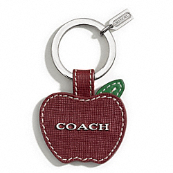 COACH F66335 Saffiano Apple Key Ring