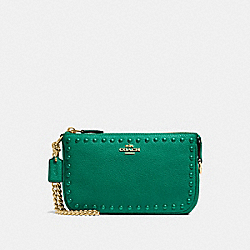 COACH F66380 - NOLITA WRISTLET 19 WITH LACQUER RIVETS LI/FOREST