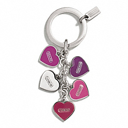 COACH F66398 - MULTI HEART MULTI MIX KEY RING ONE-COLOR