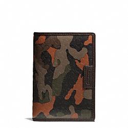 COACH F66437 Heritage Signature Embossed Pvc Passport Case