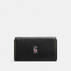COACH F66440 Mickey Phone Wallet BLACK