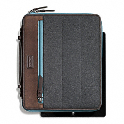 COACH F66481 Varick Nylon Mixed Material Ipad Case