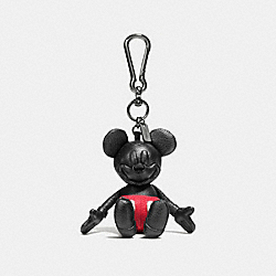 COACH F66511 Mickey Bag Charm BLACK