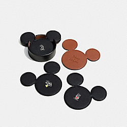 COACH F66512 Mickey Coaster Set BLACK